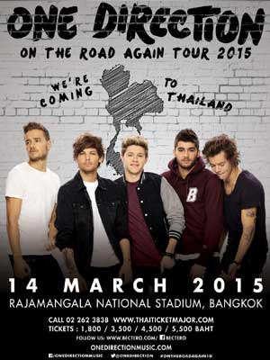 ONE DIRECTION THE ON THE ROAD AGAIN 2015 TOUR