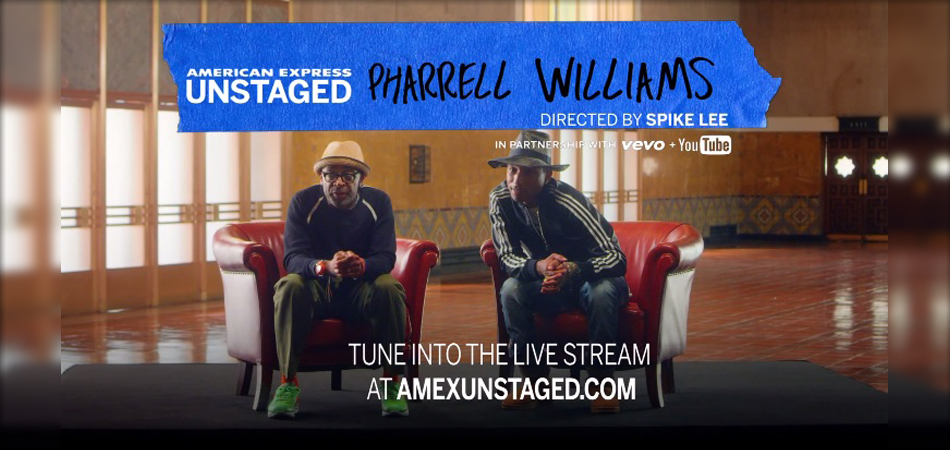 แฟนๆ Pharrell Williams ห้ามพลาด American Express UNSTAGED with Spike Lee